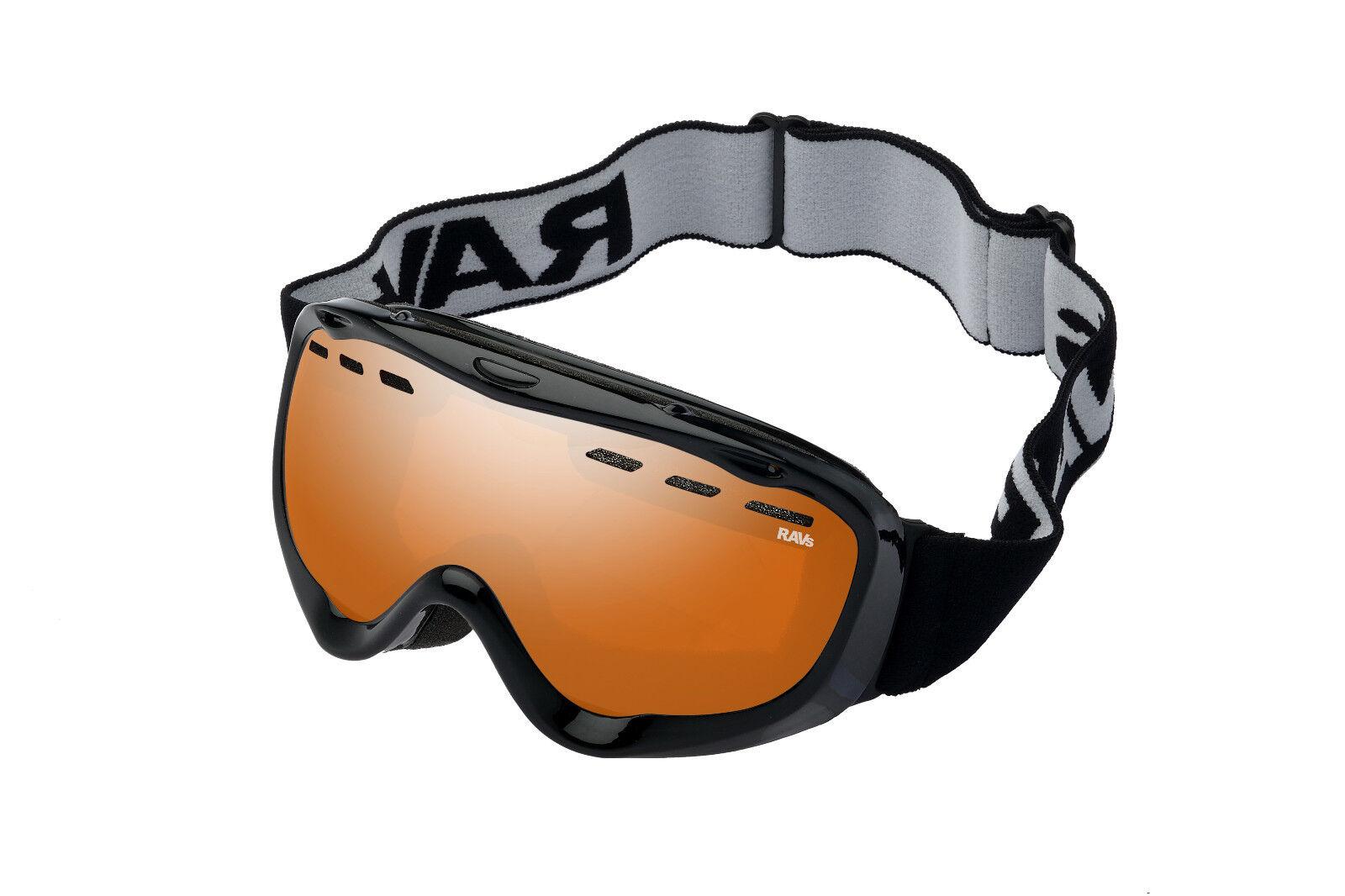 Ravs Skibrille Snowboardbrille  Schneebrille Schutzbrille Ski  goggles Kontrast