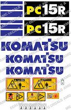 KOMATSU pc15r Escavatore Adesivo Decalcomania Set
