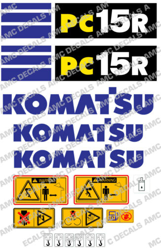 Komatsu PC15R Digger Décalque Autocollant Set