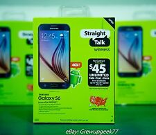 Samsung Galaxy S6 32GB Straight Talk 4G LTE SmartPhone 16MP CDMA **NEW SEALED**