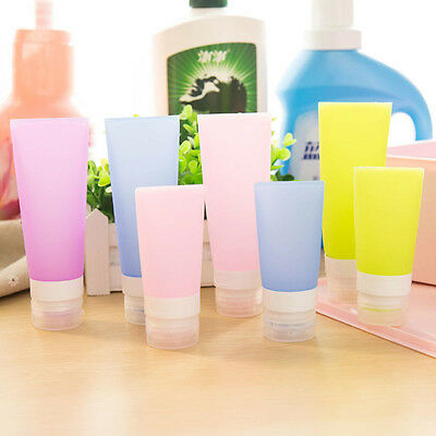 Portable Silicone Travel Bottles Cosmetics Shampoo Carry Tub Container 2 Sizes