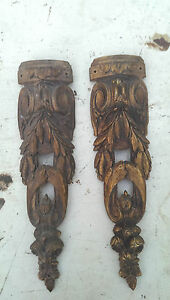 2 alte Messing Bronze Beschläge Blenden für antike Möbel ...