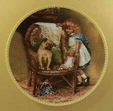 Memories of a Victorian Childhood PUGNACIOUS PLAYMATE Plate #6 Dog Doll + COA