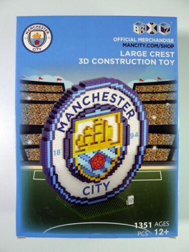 Manchester City Large Crest 3D Construction Toy brxlz-Football-Cadeau Véritable