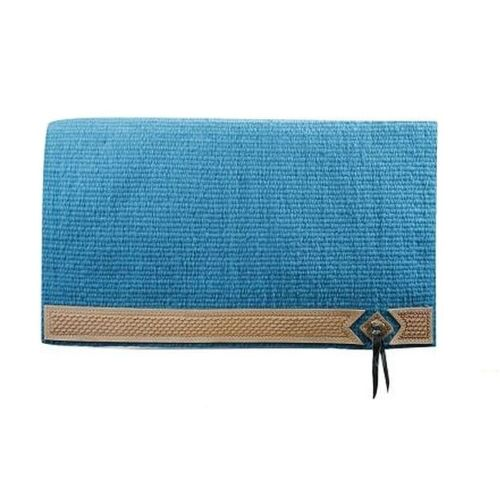 Western Horse 100/% Nouvelle-Zélande Laine Bleu Turquoise Show Saddle Pad Couverture