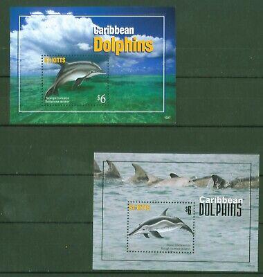 St. Kitts 2011 - Delfine Delphine Großer Tümmler Flipper - Block 105 + 106 Preisnachlass