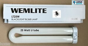 Pack of 2 Flykiller U Tube Utube 25w 4pin Electric fly Zapper UV 25 Watts