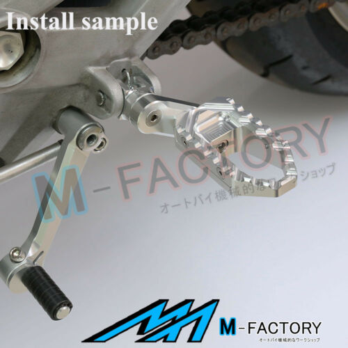 For Triumph Speed Four 02-05 06 Silver Passenger Rear Foot Pegs 39mm Extension