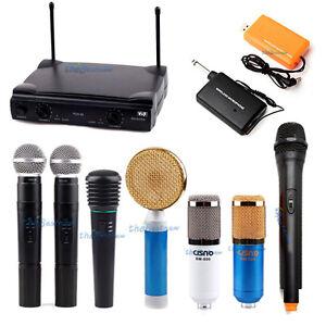 Pro Audio Condenser Microphone USB Wireless Wired Studio Equipment Kit Filter