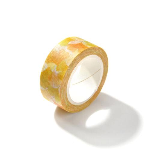 15mm*7m DIY Cute Flower Decorative Washi Tape Paper Sticky Adhesive Sticker New