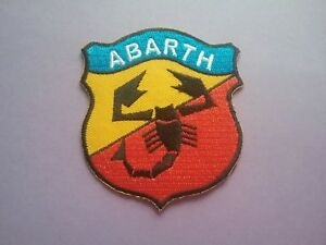 Abarth Sew or Iron On Patch Racing Car Motorsport Badge