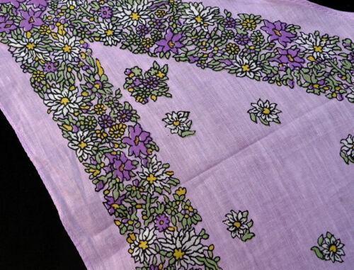leichtes Dreieckstuch Edelweiß Enzian lila flieder grün Damen Trachten Tuch 659