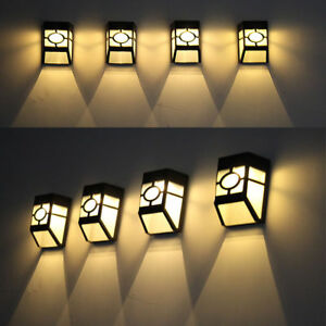 Solar Power Wall Mount LED Light Outdoor Garden Path Landscape Fence Yard Lamp K  eBay