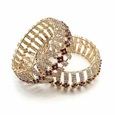 Indian Jewellery Bridal Bollywood Asian Ethnic Party Wear Stone Bangles size2.6