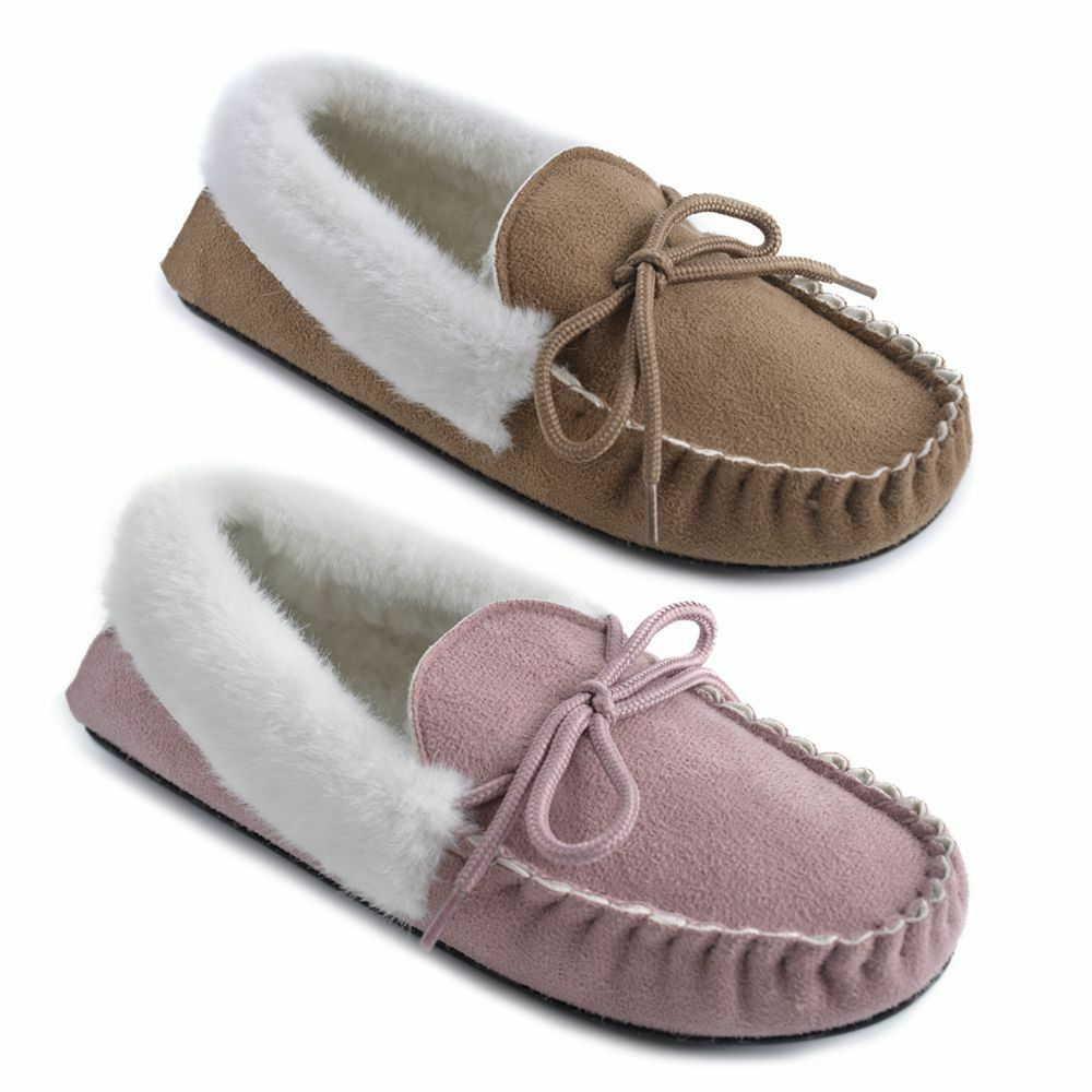 Ladies Mock Suede and Moccasins in