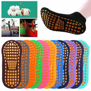 2Pcs Adult Children Cotton Anti-slip Trampoline Fitness Gym Ballet Socks