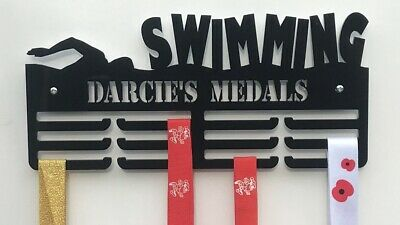 Rack Medal Holder THICK 5mm Acrylic PersonalisedSwimming 3Tier Medal Hanger