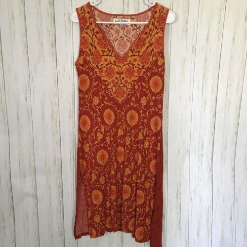 Label Ritu Kumar Sz 3 Orange Sleeveless Floral Pri
