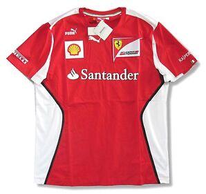 Ferrari Puma Santander team Red Soccer Style Adult T-shirt Brand Official