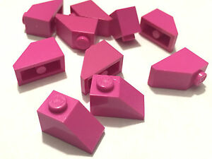 NEW-10-Pieces-Lego-DARK-PINK-Slope-45-2x1-ROOF