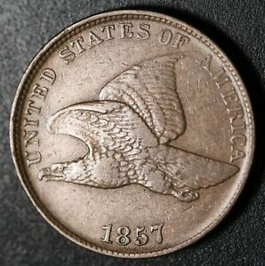 1857-FLYING-EAGLE-CENT-XF-EF