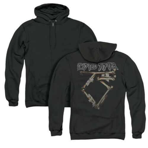 Twisted Sister Rock Band Os Logo Licence Adulte Imprimé dans le Dos Zip-up hoodie