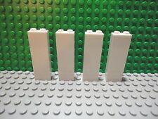 Lego 4 White 1x2x5 wall brick block castle NEW