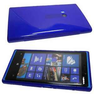Smartphone-Case-for-Nokia-Lumia-920-TPU-Case-Protective-Cover-in-blue