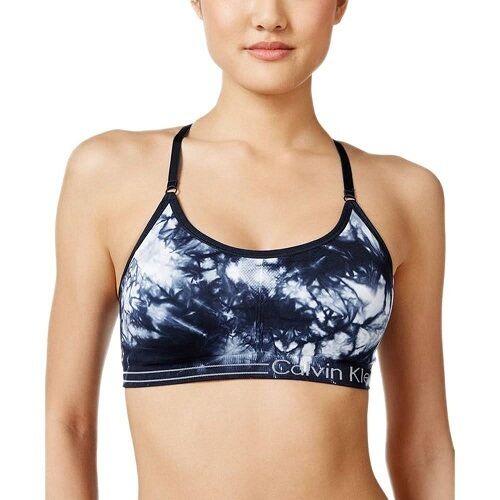 3c24584b13 Calvin Klein Performance Tie Dye Sports Bra Navy PFYT3486 L for sale online