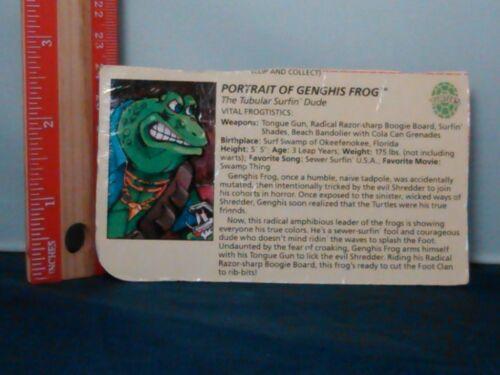 TMNT Teenage Mutant Ninja Turtles Casey Jones Genghis Frog Triceraton Card Rare
