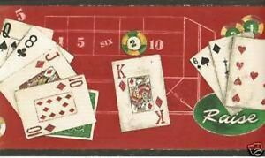 NEW-Poker-Gambling-Casino-Cards-Wall-Border-10-yrds-2-Rolls-By-Borden