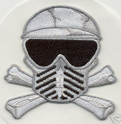 Paintball Crâne /& Crossbones Patch Autocollant Spyder