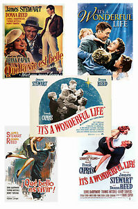 Its A Wonderful Life Set Of 5 A4 Poster Prints 1 Ebay