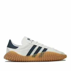 Hommes-Adidas-Originals-Country-X-Kamanda-Lacets-Matelasse-Baskets-en-Blanc