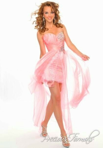 ️ PRECIOUS FORMAL  8 PROM PARTY QUINCE GALA PINK ORGANZA SEQUIN CRYSTAL  ️