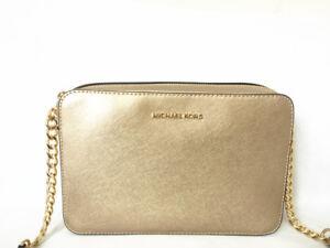 Details about NWT Michael Michael Kors Jet Set Travel Large East West Crossbody Bag Pale Gold