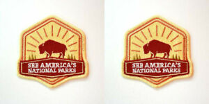 Set-of-2-Patches-Official-See-America-039-s-National-Parks-NPS-Service-Souvenir
