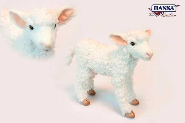 Hansa Anima Neuware stehendes  Lamm Schaf ca. 29cm groß