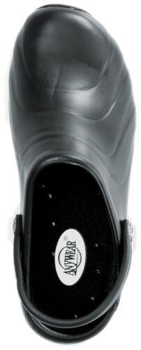 CLOGS Black ZONE Anywear Injected Clog w//Backstrap