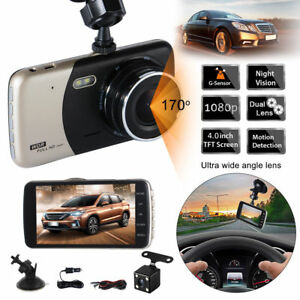 4 39 39 dual lens hd 1080p auto kamera rearview dash cam dvr. Black Bedroom Furniture Sets. Home Design Ideas