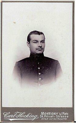 Aus Dem Ausland Importiert Cdv Photo Soldat - Montigny Metz 1900er Reines Und Mildes Aroma