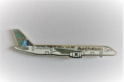 Iron Maiden The Final Frontier World Tour Aircraft Enamel Pin Badge