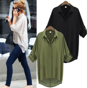 Fashion-Women-Casual-Long-Sleeve-Chiffon-Blouse-T-Shirt-Summer-Loose-Tops-Blouse