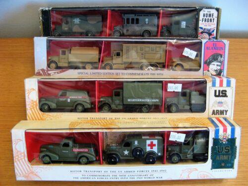 Collection de coffrets militaires Lledo Days Gone Military - Ensembles d'armées à véhicules divers de 4 X 3