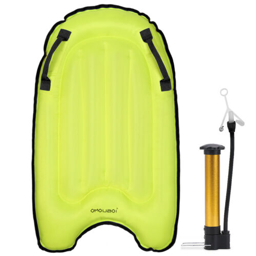 Surfing Body Board with Portable Pump Inflatable Pool Float Beach Surfing Z0B1