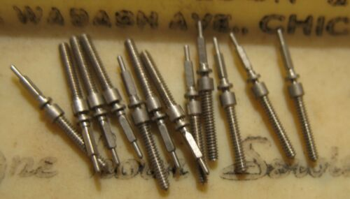 lot of 12 NOS Bulova Winding Stem Bestfit 104F fit 6AH 6AK 6AM 6AX 6AZ 6BA 6BC