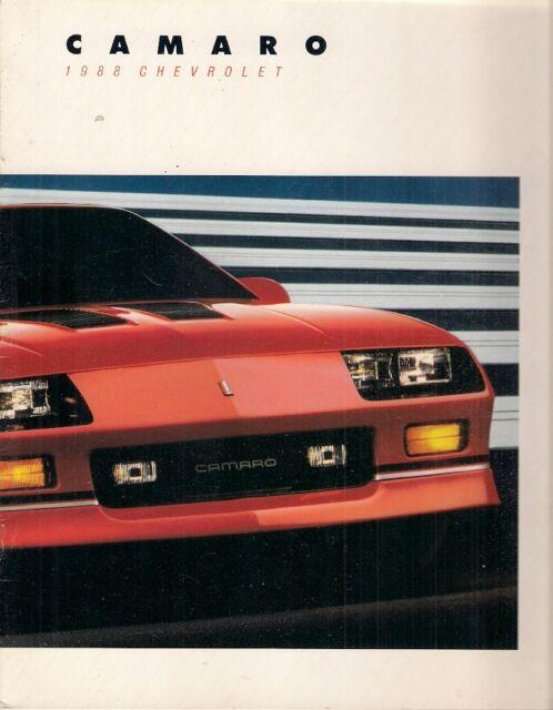 Chevrolet Camaro 1988 USA Market Sales Brochure Sport Coupe IROC-Z Convertible
