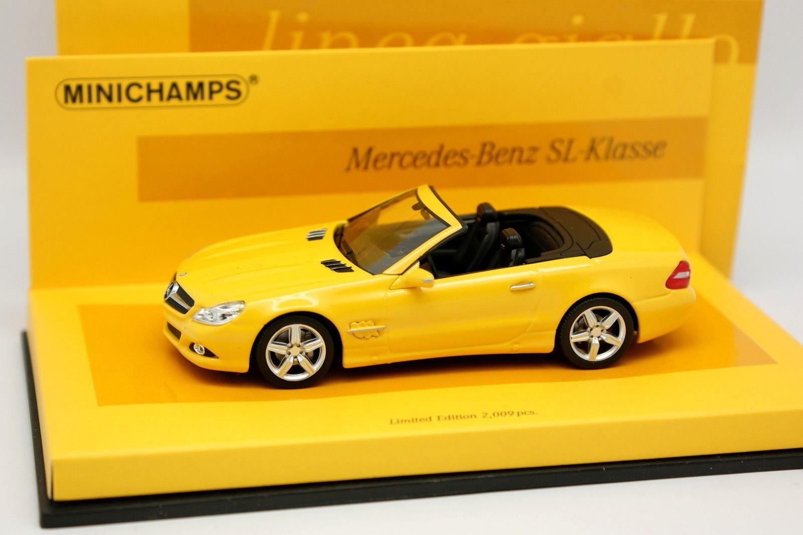 Minichamps 1 43 - Mercedes SL 2009 jaune Edition