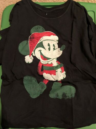 Walt Disney World Mickey Mouse Santa Unisex Tshirt Small New With Tag