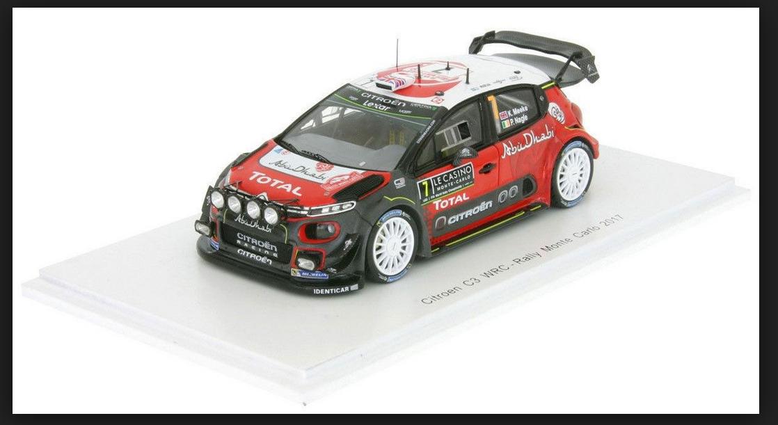 CITROEN C3 WRC  MONTECARLO 2017 K.MEEKE-P.NAGLE 1 43  S5155 SPARK